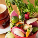 MiKiya's ぐりぐり - 料理写真:カラフルな彩りと野菜の味にこだわった『バーニャカウダ』