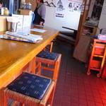 鴫野食堂 - カウンター席です