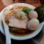 鶏そば  ムタヒロ 2号店 - ガハハ鶏親子そば800円+トッピング