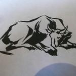 25239564 - 敷紙にも牛がデザインされています