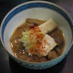 和台所 花 - いわゆるモツ煮な「ホルモン味噌煮(\525)」。