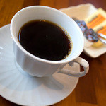 糸島バールSyana - セットのドリンクはホットコーヒーに。