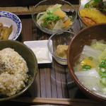 玄米食堂 ie - 2014.3 夜の定食
