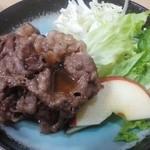 松やん - 「焼肉定食」の 焼肉と野菜等