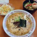 二十六代目 哲麺 - ランチ 醤油ラーメンとまかない丼