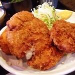 ありんこ - お昼は、メンチカツとコロッケ二種類の定食!(^ー^)ノ ボリュームたっぷりのお店で満足満足!( ̄▽ ̄)