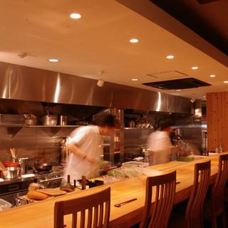 フルフラットなオープンキッチン優雅な個室ペット可のテラス