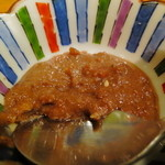 のとだらぼち - イカの肝を一夜干しして作った焼き野菜用のソース。
