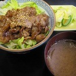 和台所 花 - 薄切肉の焼肉丼