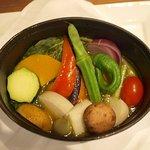 レストラン・ホク - 原田さん・松木さん・浅野さんの有機野菜のココット鍋焼き