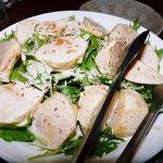 あずまし亭 - 柿とわさび菜のサラダ