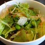 ひすい亭 - ランチセットのサラダはサラダバーから。