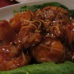 海鮮酒家 中山 - 三枚肉串焼き