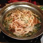 もつ鍋 八衆 - 〆のちゃんぽん麺