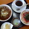 味斉 - 料理写真:ランチAセット(¥500)10食限定らしいですが、まずありつける印象。