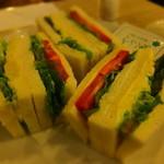 マヅラ喫茶店 - 野菜サンド:500円('14.03月)