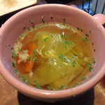 カフェ リーシャ - 野菜の味がしっかりしたスープ