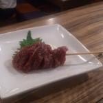 油食来 - 仙台牛の漬け串200円