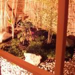 川村料理平 - 奥の堀ごたつ席は庭が望めます