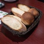 最初に出てくるパン。