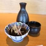 すし京辰 - 秩父錦 辛口 (埼玉県) 1合 524円。お通し 315円。