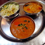 """Indian Cuisine&Bar グランドダージリン  - """"キーマと日替りカレー(かぼちゃ?)"""""""