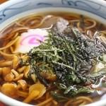 千本屋 - 山菜そば 800円。