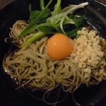 蕎麦YUKI - 釜卵そば 九条葱・天かす追加