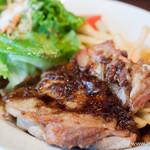 ブレッド&タパス 沢村 - 若鶏もも肉のロースト マスタード風味 w/サラダ【2013年7月】