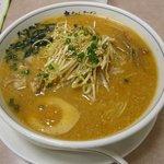 大ちゃんラーメン  - 料理写真:胡椒やゴマ油で味付けされた葱がのった「ねぎ味噌ラーメン(\680)」。