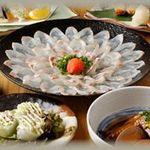 つくしんぼ - 桜鯛の薄造りコース