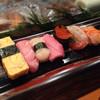 金寿司 - 料理写真:140322 にぎり竹 卵・大とろ・帆立・中とろ・いくら・生えび・赤貝