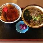 五万石 - 醤油カツ丼蕎麦セット