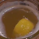 Irish Bar Craic - ヒューガルデン・ホワイトにレモンを絞って投入しました。