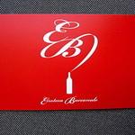25344525 - 店舗名刺(表)Enoteca Baccanale のE&Bをモチーフにしたデザインがお洒落