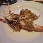 シェーヌ - 魚料理:スカンピのニンニク焼き