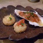 25347948 - 牡蠣のマリネ 帆立貝のクリームコロッケ