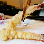 天ぷら てんかつ - 料理写真:ボタンエビのてんぷら