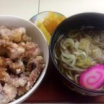 花ちゃん - ゲソ丼ミニそばセット