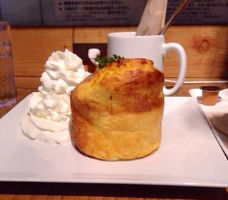 カフェ アサン - スフレパンケーキ(プレーン)