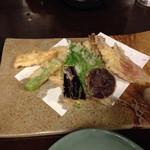 食事処こめや - 野菜天ぷら盛り合わせ