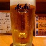 ファイヤープレート - 肉だ~、ビールだ!!って、ことで、何時ものように生ビールからのスタートです。