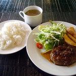 レストランバー ブゼン - 「ハンバーグ~シャリアピンソース(日替り)」800円