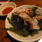 和食個室×とろろしゃぶしゃぶ にっぽん市 - おつまみに「海ぶどう (580円)」