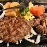 炭焼ステーキくに 両国店 - カットステーキ&ビーフハンバーグ(2300円)