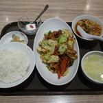 唐庄酒家  - 回鍋肉定食+ミニ麻婆豆腐