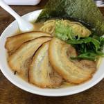 金也 - 家系ラーメン炙りチャーシュー麺中盛り