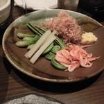 おり座 - 湯豆腐の薬味