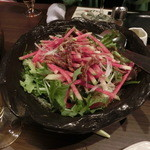 おり座 - 六条麸と紅大根のサラダ
