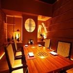 炭火焼神戸牛いく田 - 障子で仕切られた完全個室。
